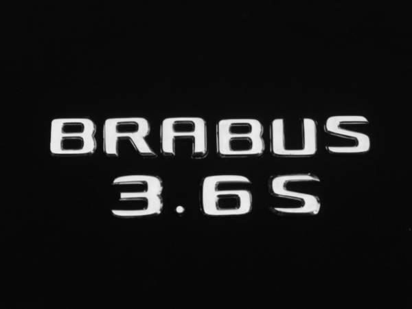 ブラバス仕様/リア/トランク/エンブレム/2枚SET『BRABUS』+『3.6S』BENZベンツW201/190E/2.3/2.5/2.6/リミテッド/エボリューション/アルミ_画像1