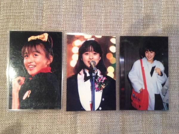 渡辺美奈代◆懐かしいプロマイド3枚/おニャン子クラブ/IDOLポン