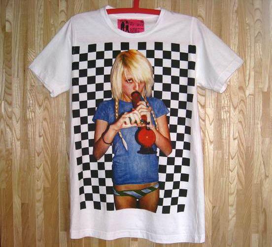 新品/マリファナ?水パイプを吸う女Tシャツ白LXL/ボング大麻(5)_画像2