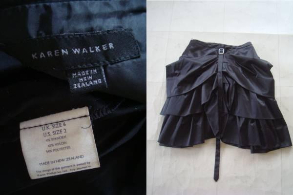 karen walker ブラックボリュームスカート US2 カレンウォーカー_画像3