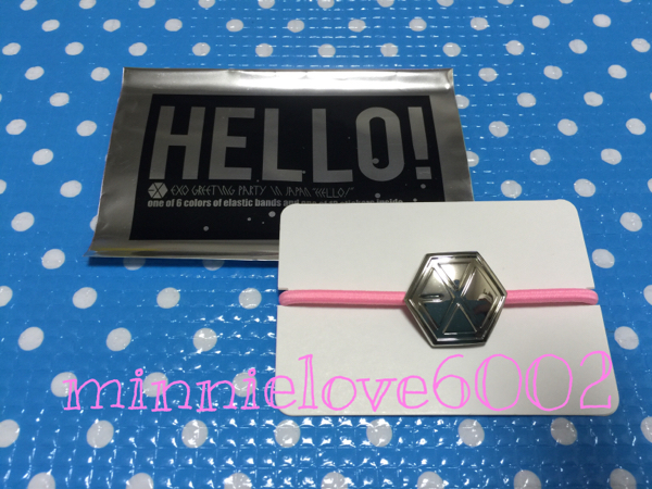 EXO★グリパ★Greeting Party Hello★公式 グッズ★ヘアゴム★ピンク_画像1