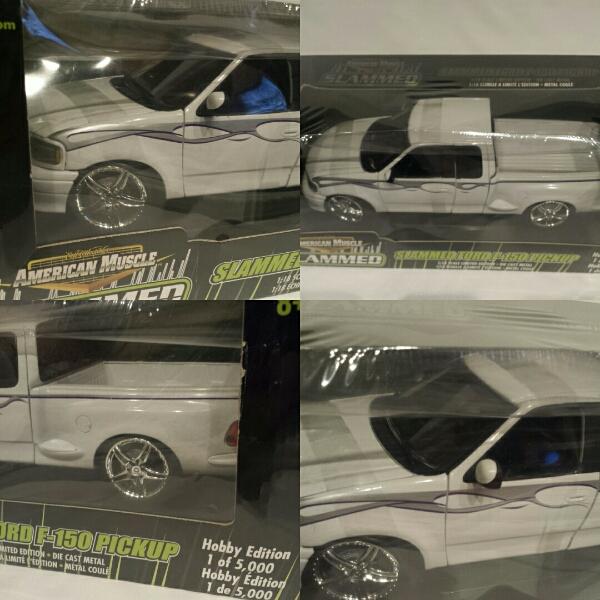 限定 1/18 FORD F-150 カスタム アメ車 ミニカー 白 AMERICAN MUSCLE フォード ピックアップ・トラック F150 ファイヤー モデルカー_画像2