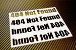 404NotFoundステータスコード★カッティングステッカー★エラー