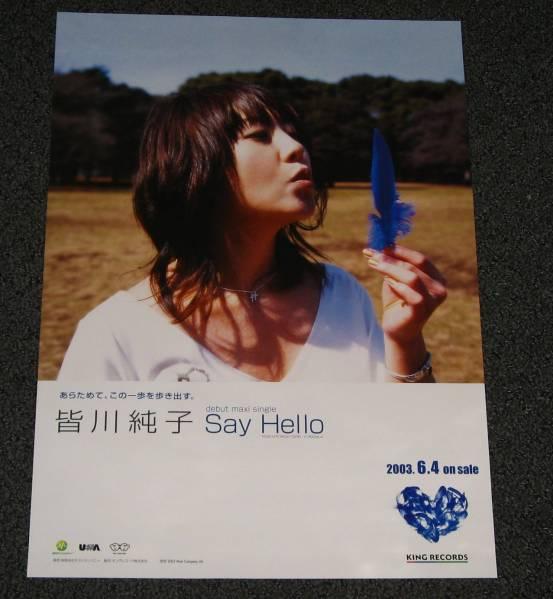 B-5 皆川純子 / Say Hello B3 告知ポスター