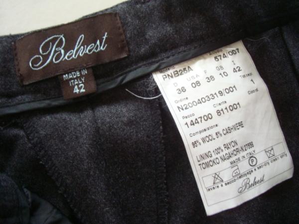 バーニーズニューヨーク購入 Belvest カシミア混パンツ size42_画像3