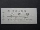 JR西 北陸線3セク化区間入場券 小杉駅 日並び