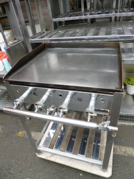 即決!中古美品 鉄板グリドル 都市ガス鉄板焼き 台付620 _画像3