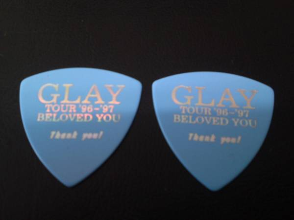 GLAY ギター ピック 水色 TOUR 96,-97, 2枚 レア