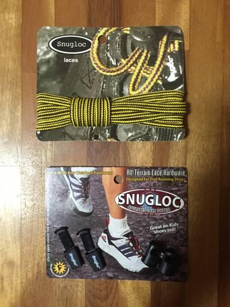 アウトドア ランニングシューズ用靴紐セット くつひも Snugloc 01 送料無料