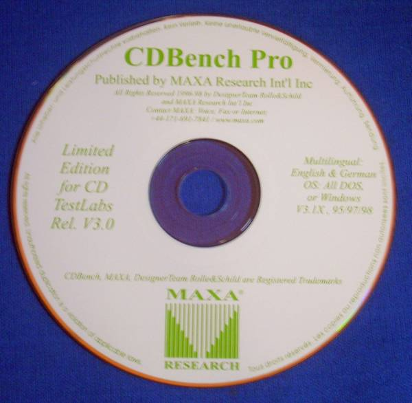 ◎ ● 【CD Bench Pro】 CD TestLab 3.0 limited edition
