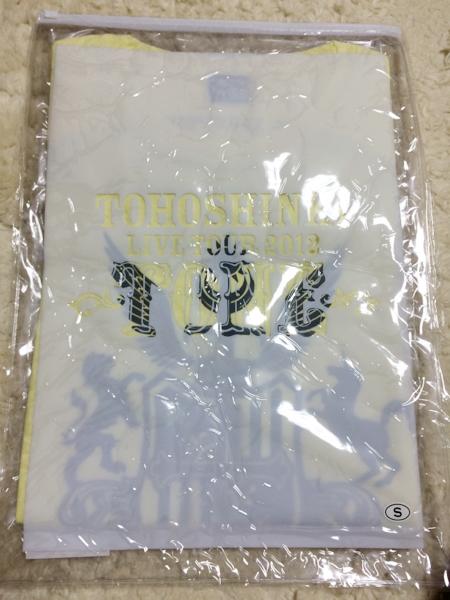 東方神起☆TONE☆Tシャツ☆YELLOWファスナーケース入☆Sサイズ ライブグッズの画像
