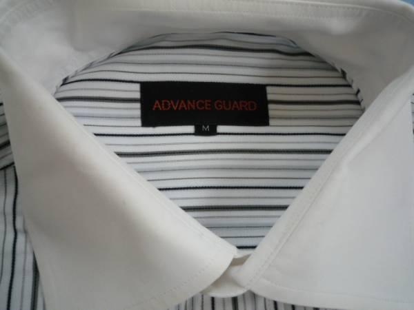 【お得!!】◆ADVANCE GUARD◆ 長袖シャツ ストライプ M_画像3