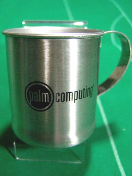 ▼旧 パーム Palm Computing ロゴ入り メタルマグカップ 未使用!!!▼_画像1