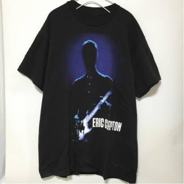 ビンテージ エリッククラプトン Tシャツ 黒 ツアーTシャツ ライブグッズの画像