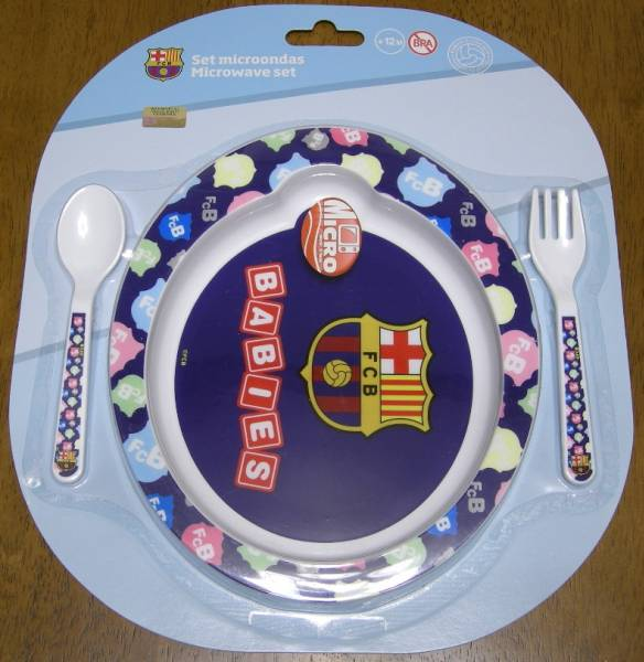 ※正規品※ FCバルセロナ 子供用食器セット(電子レンジ可) グッズの画像