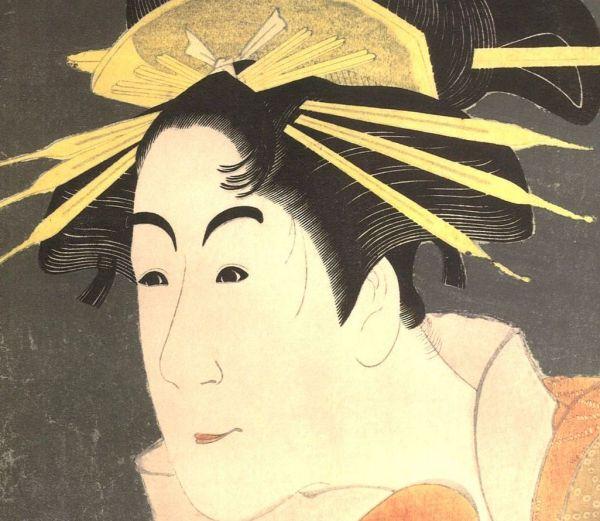 ●写楽「松本米三郎の・・」CG複製・木製額付・即決●_細部まで精密に複製