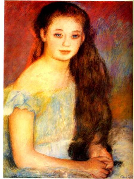 ★美術本★絵画本★ 印象派・光と影の画家達 ★19世紀の画家★_内部・『少女』・ルノワール