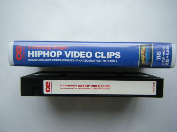 即決中古VHSビデオ cutting edge HIP HOP CLIPS 74分。ECD,BUDDHA BRAND,YOU THE ROCK,K DUB SHINE 他 / 曲目は写真4,5をご参照ください_画像3