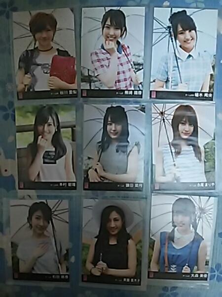 AKB48ハロウィンナイト劇場盤 生写真 アップカミングガールズ9枚 ライブ・総選挙グッズの画像