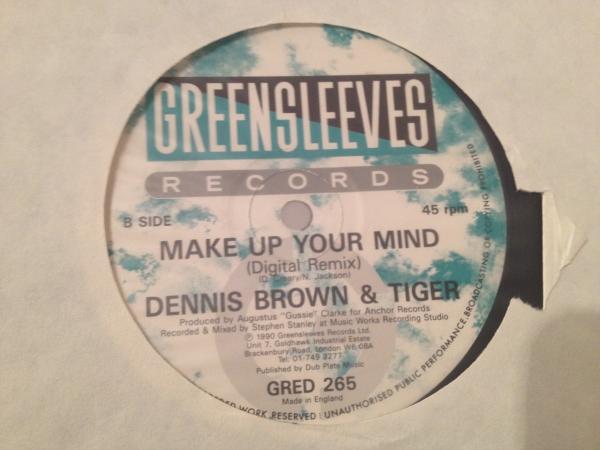 ★Dennis Brown & Tiger/Make Up Your Mind★人気コンビ!2_画像2
