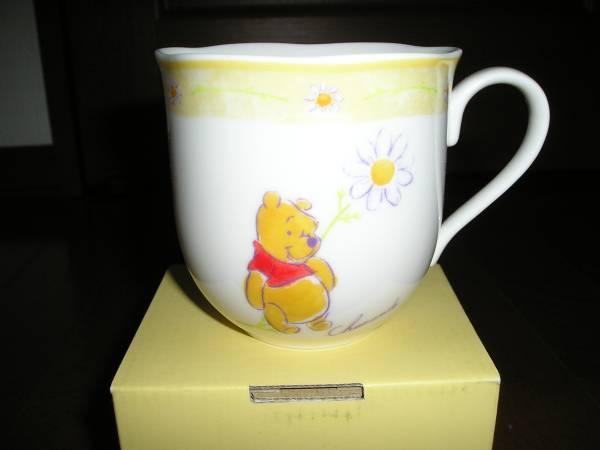 【新品・未使用】ディズニー くまのプーさん 六角形 マグカップ ディズニーグッズの画像