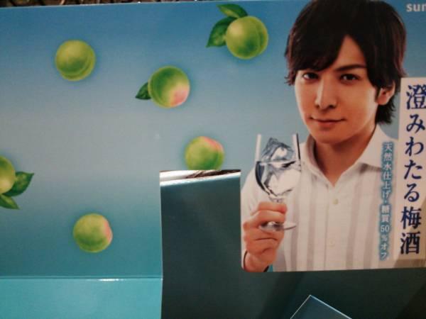 生田斗真★澄みわたる梅酒★ 非売品*横置きポップ