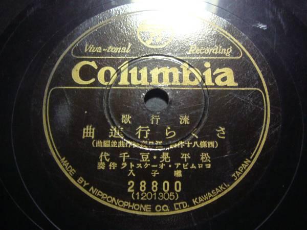 ■SP盤レコード■ニ602(B) 松平晃 さくら行進曲 伊藤久男_良好です。