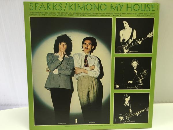 洋楽 試聴済LP SPARKS KIMONO MY HOUSE スパークス