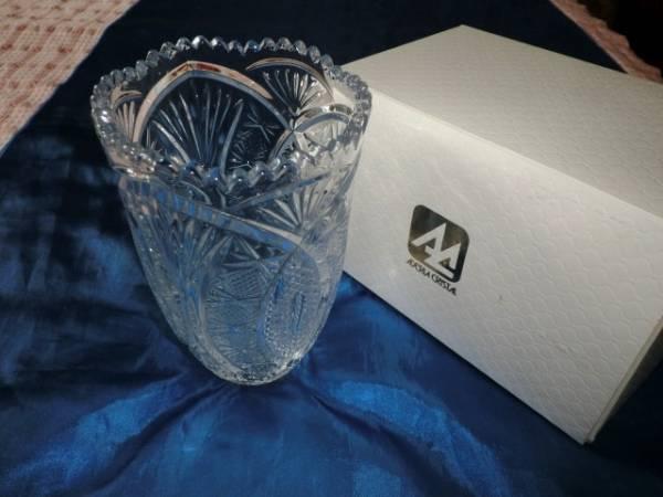 新品★石塚硝子★アデリアクリスタル 豪華な花瓶 重厚感あり