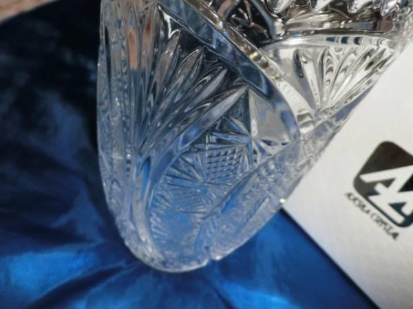 新品★石塚硝子★アデリアクリスタル 豪華な花瓶 重厚感あり_画像2