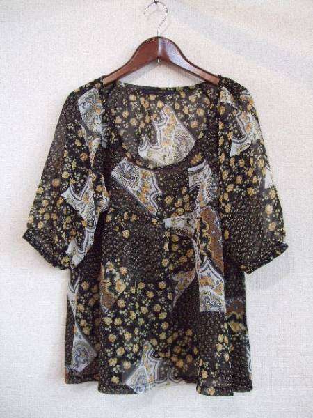naturalcouture花柄シフォンブラウス(USED)41013_画像1