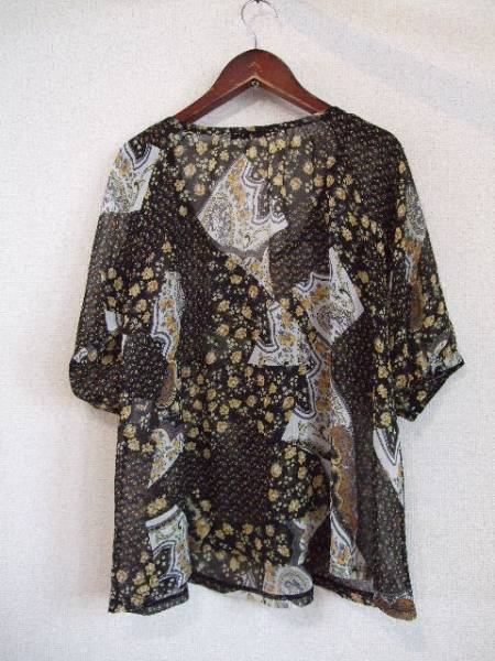 naturalcouture花柄シフォンブラウス(USED)41013_画像3