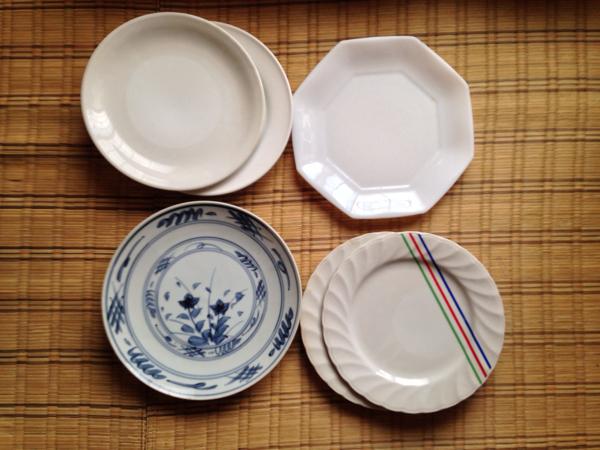 皿 6枚 セット 直径23~25センチ プレート 大皿 昭和レトロ