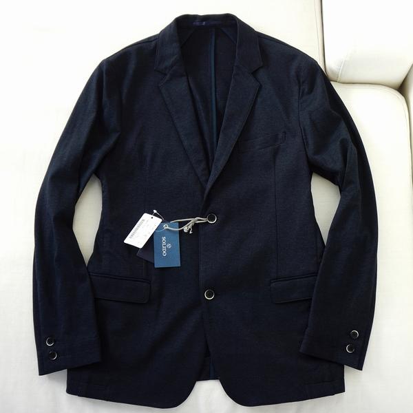 送料無料 新品★ SOLIDO 度詰め コットン ジャージー ジャケット 3 メンズ ネイビー 紺 ソリード eleventy タトラス 日本製_本文中にも画像を掲載しています。