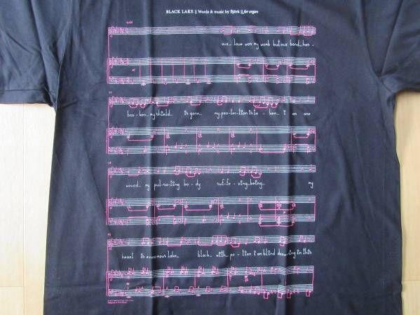 USA製 Bjork MoMA ビョーク 回顧展 楽譜 Tシャツ L 黒 芸術 ART