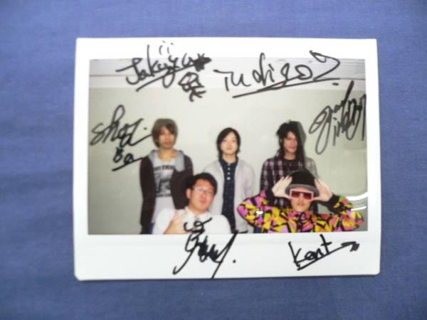 稀少◆indigo7◆直筆サイン入りポラ◆インンディゴセブン/バンド