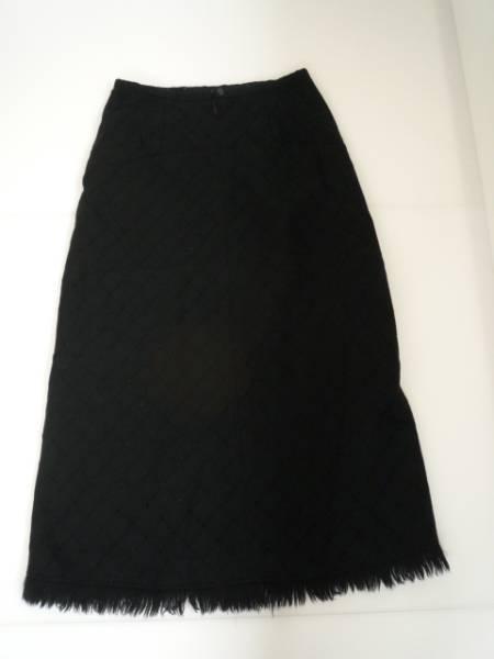 【良品!!】●ポートクロス/PORTCROS● ロングスカート 黒 W67