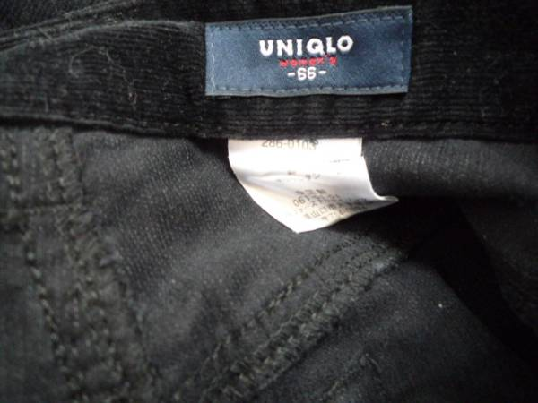 【良品!】 ● ユニクロ / UNIQLO ● ロングスカート 黒 66 無地_画像3