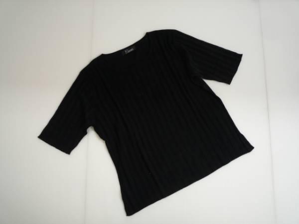 【良品!!】◆エレガンス/ELEGANCE◆ 半袖カットソー 黒 M 絹