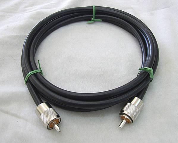 コネクタ付同軸ケーブル 5D-FB 1.5m M型コネクタ付 _画像1
