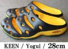 KEEN ヨギ 黒/黄/緑 ラスタカラー 28cmキーンYogui サンダルUS10
