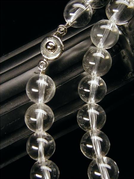 ♪即決 【壽】直径9mm天然AAA級最高級品本水晶ネックレス_画像3