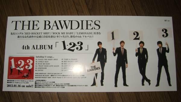 【ミニポスターF16】 THE BAWDIES/『1-2-3』 非売品!