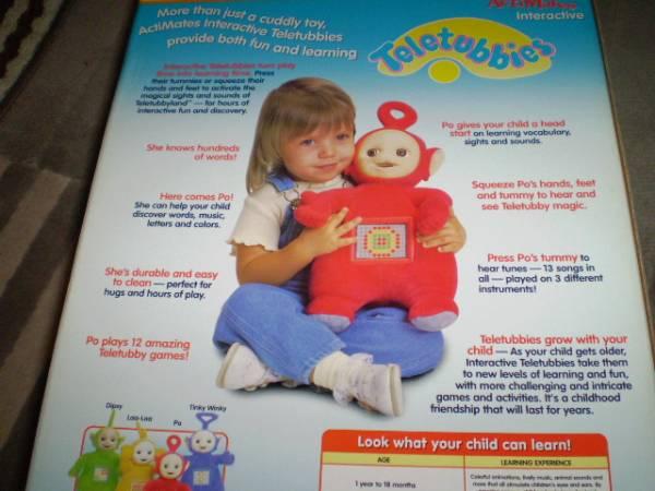 新品 レア Teleyubbies テレタビーズ ぬいぐるみ ポー マイクロソフト 人形 知育玩具 Uk toy 特大 コレクション インテリア ビンテージ_画像2