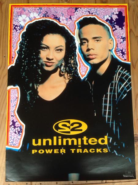 2unlimited 2アンリミテッド ポスター power tracks poster インテリアに DJ