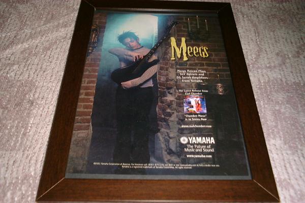 MEEGS RASCON  ヤマハ ギター USA 広告 2001年