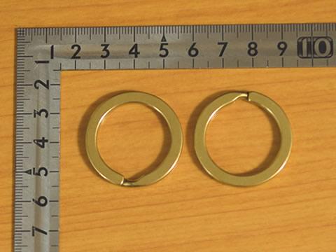 平押二重リング 25mm 真鍮無垢(生地仕上げ) 8個セット 金具屋com_画像1