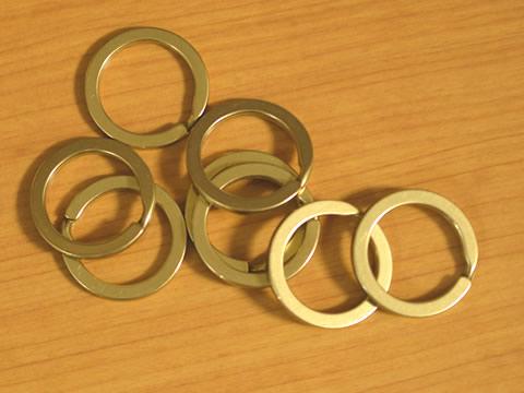 平押二重リング 25mm 真鍮無垢(生地仕上げ) 8個セット 金具屋com_画像2