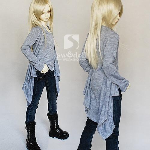 [sunny] SD,SD13少年少女用レイヤード風Tシャツカーディガン_画像1