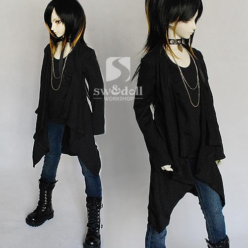 [sunny] SD,SD13少年少女用レイヤード風Tシャツカーディガン_画像2